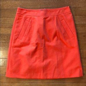 Red Ann Taylor Petite Skirt